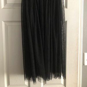 Black tulle and sheer skirt
